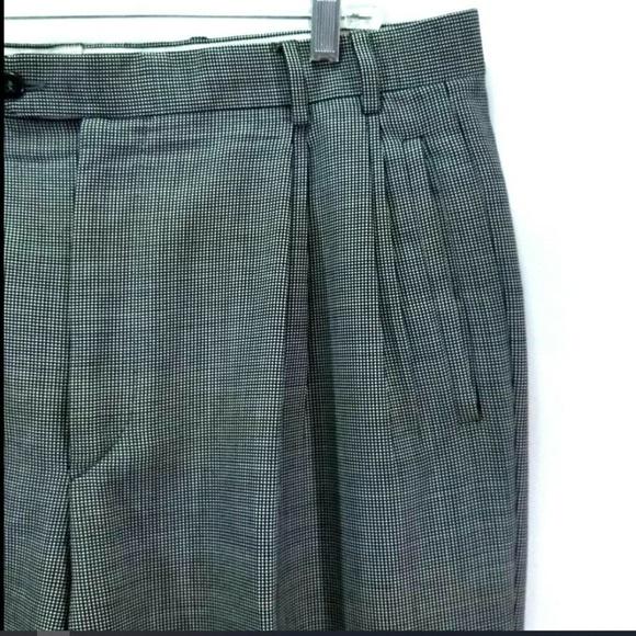 422681ec35 Zanella Jesse Wool Men's Dress Pants Micro Plaid